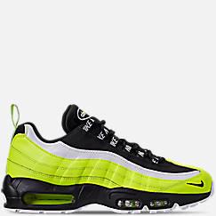 나이키 맨 Mens Nike Air Max 95 Premium Casual Shoes,Volt/Black/Glow/Barely Volt