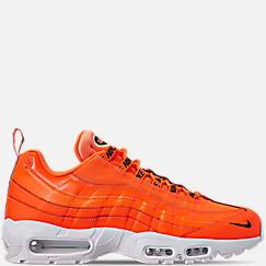 나이키 맨 Mens Nike Air Max 95 Premium Casual Shoes,Total Orange/Black/White