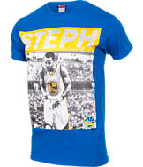 Men's Majestic Golden State Warriors NBA Stephen Curry Pop T-Shirt