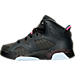 Left view of Girls' Preschool Air Jordan Retro 6 Basketball Shoes in Anthracite/Black/Hyper Pink