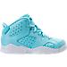 Right view of Girls' Preschool Jordan Retro 6 Basketball Shoes in Still Blue/White