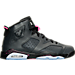 Right view of Girls' Grade School Air Jordan Retro 6 (3.5y-9.5y) Basketball Shoes in Anthracite/Black/Hyper Pink