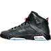 Left view of Girls' Grade School Air Jordan Retro 6 (3.5y-9.5y) Basketball Shoes in Anthracite/Black/Hyper Pink