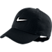 Front view of Kids' Nike H86 Swoosh Adjustable Back Hat in Black/White