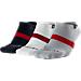 Back view of Men's Jordan No-Show 3-Pack Socks in Multi-Color/Black/White/Matte Silver