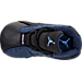 Top view of Infant Jordan Retro 13 Gift Pack in Brave Blue/Metallic Silver/Black