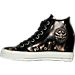 Left view of Women's Converse Chuck Taylor Lux Metallic Casual Shoes in 006
