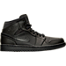 Right view of Men's Air Jordan Retro 1 Mid Retro Basketball Shoes in Black/White
