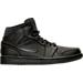 Right view of Men's Air Jordan Retro 1 Mid Retro Basketball Shoes in Black/White
