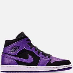 나이키 에어조던 1 미드 레트로 농구화 - 블랙/다크 콩코드/화이트 Nike Mens Air Jordan 1 Mid Retro Basketball Shoes,Black/Dark Concord/White, 554724 051