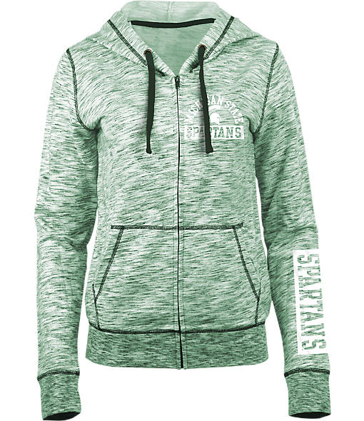 Women's New Era Michigan State Spartans College French Terry Hoodie