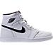 Right view of Men's Air Jordan Retro 1 High OG Basketball Shoes in White/Black/White