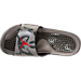 Top view of Men's Jordan Hydro V Retro Slide Sandals in Stucco/University Red/River Rock
