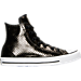 Right view of Women's Converse Chuck Taylor High Top Casual Shoes in Black/Black/White