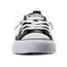 Front view of Women's Converse Shoreline Ox Metallic Casual Shoes in