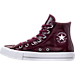 Left view of Women's Converse Chuck Taylor Hi Patent Casual Shoes in Dark Sangria