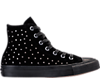 Women's Converse Chuck Taylor High Top Velvet Stud Casual Shoes