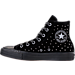 Left view of Women's Converse Chuck Taylor High Top Velvet Stud Casual Shoes in Black/Black/Black