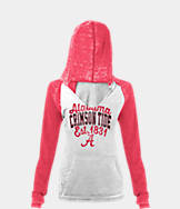 Women's New Era Alabama Crimson Tide College Burnout Raglan Pullover Hoodie