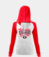 Women's New Era Georgia Bulldogs College Burnout Raglan Pullover Hoodie
