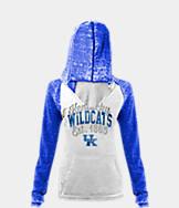 Women's New Era Kentucky Wildcats College Burnout Raglan Pullover Hoodie
