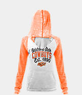 Women's New Era Oklahoma State Cowboys College Burnout Raglan Pullover Hoodie