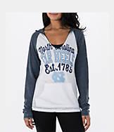 Women's New Era UNC Tar Heels College Burnout Raglan Pullover Hoodie
