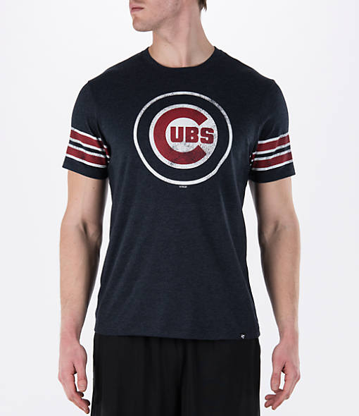 Men's '47 Chicago Cubs MLB Knock Club Stripe T-Shirt