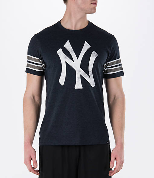 Men's '47 Brand New York Yankees MLB Knock Club Stripe T-Shirt