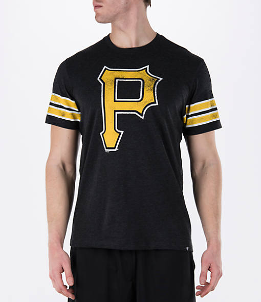 Men's '47 Pittsburgh Pirates MLB Knock Club Stripe T-Shirt
