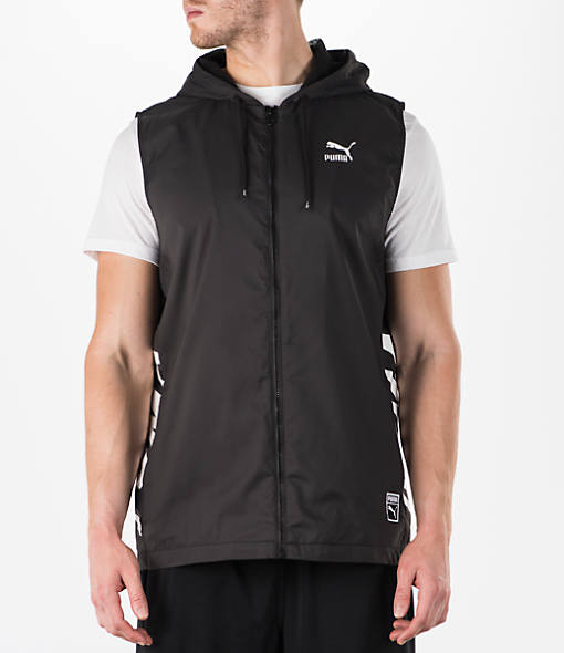 Men's Puma Colorblock Sleeveless Hoodie