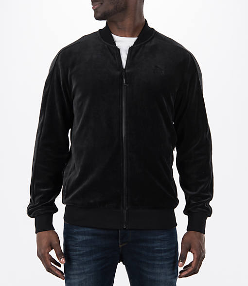 Men's Puma Velour T7 Track Jacket