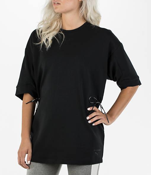 Women's Puma Evolution Lacing Short Sleeve Sweatshirt