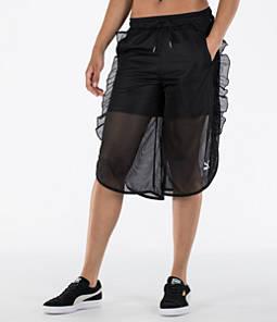 Women's Puma XTreme Mesh Frill Shorts Product Image