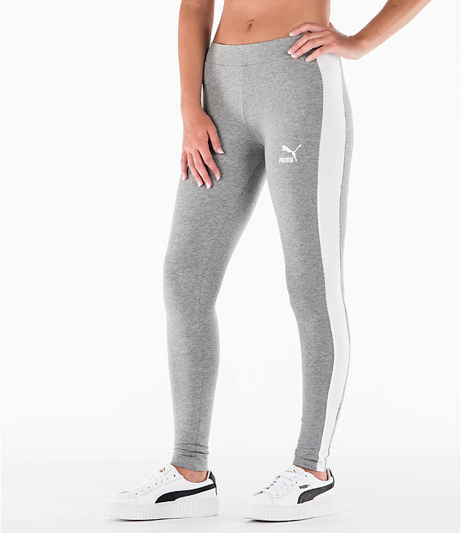 Detail 1 view of Women's Puma T7 Leggings in Grey