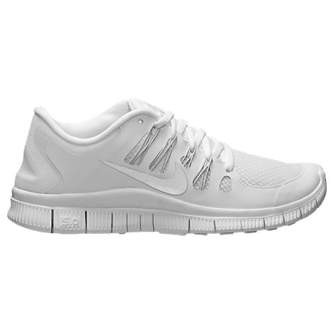 nike all white free runs
