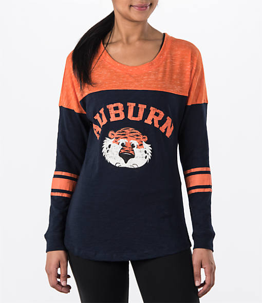 Women's Stadium Auburn Tigers College Long-Sleeve Sporadic T-Shirt