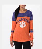 Women's Stadium Clemson Tigers College Long-Sleeve Sporadic T-Shirt