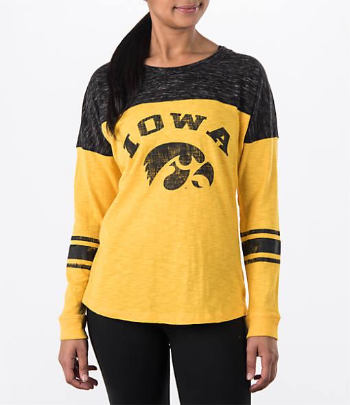 Women's Stadium Iowa Hawkeyes College Long-Sleeve Sporadic T-Shirt