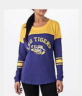 Women's Stadium LSU Tigers College Long-Sleeve Sporadic T-Shirt