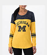 Women's Stadium Michigan Wolverines College Long-Sleeve Sporadic T-Shirt