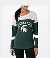 Women's Stadium Michigan State Spartans College Long-Sleeve Sporadic T-Shirt