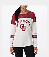 Women's Stadium Oklahoma Sooners College Long-Sleeve Sporadic T-Shirt