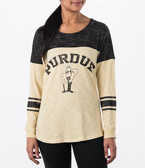 Women's Stadium Purdue Boilermakers College Long-Sleeve Sporadic T-Shirt
