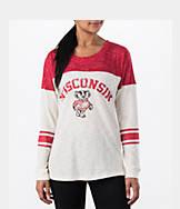 Women's Stadium Wisconsin Badgers College Long-Sleeve Sporadic T-Shirt
