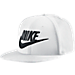Front view of Nike True Graphic Futura Hat in White/Black