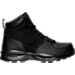 Right view of Boys' Grade School Nike Manoa Leather Textile Boots in Black/Black/Black