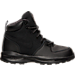 Right view of Boys' Preschool Nike Manoa Leather Textile Boots in Black/Black