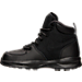 Left view of Boys' Preschool Nike Manoa Leather Textile Boots in Black/Black