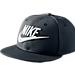 Front view of Kids' Nike Futura True Snapback Hat in Black/White